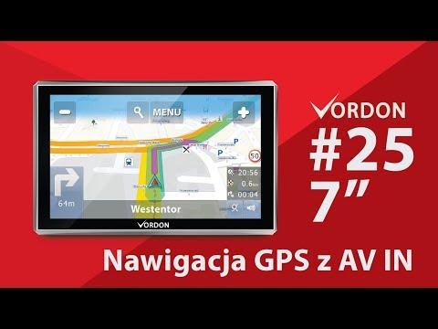 #25 Nawigacja GPS Vordon 7 cali z wejściem AV IN