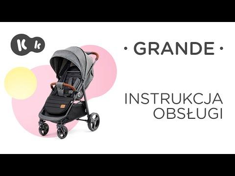 Kinderkraft GRANDE instrukcja obsługi. Wózek spacerowy dla dzieci.