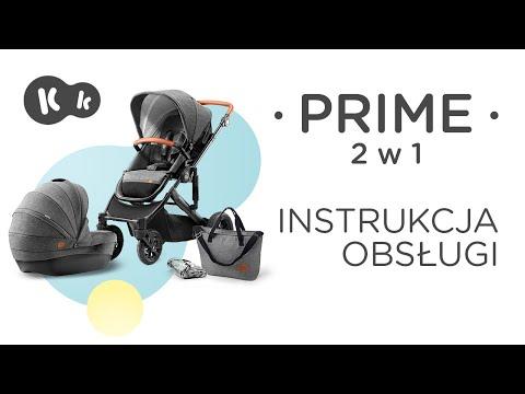 Kinderkraft PRIME 2w1 instrukcja obsługi. Wózek dziecięcy z adapterami do fotelików samochodowych.