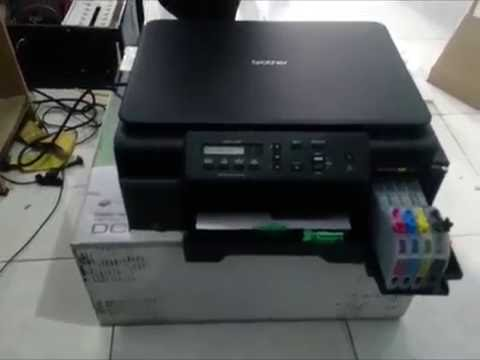 UNBOXING PRINTER BROTHER DCP-J105 INJECT