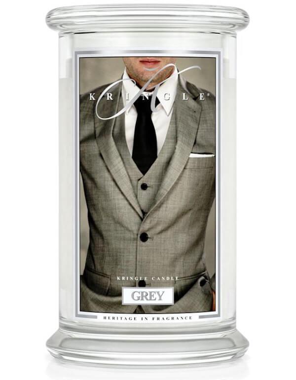 Świeca zapachowa Kringle Candle Grey